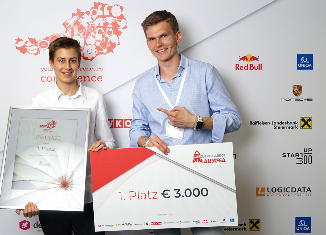 1. Platz bei Startup Challenge Austria