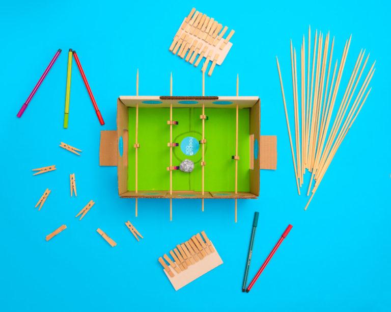 benötigte Utensilien, um deinen Tischfußball nachzubauen